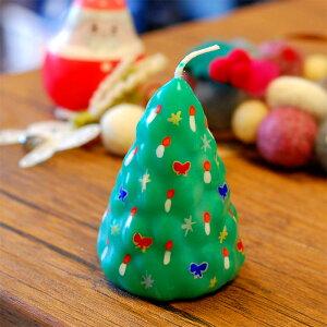 ピチオキャンドル クリスマスツリー 絵付けキャンドル 【pichio candle】(手作り/ライト/かわいい/キャラクター/置物/ろうそく/オブジェ)日本製 ハンドメイド 北欧/雑貨/贈り物/ギフト/おしゃれ/