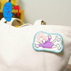 カラフルで可愛い 刺繍 ブローチ 刺繍ブローチシリーズの空もとべるよレオタード夫人ブローチ【uRiiiy】(ブローチ/ワッペン風/ワンポイント/刺繍)日本製 ハンドメイド 北欧/雑貨/贈り物/ギフ