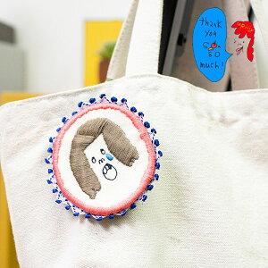 カラフルで可愛い 刺繍 ブローチ 刺繍ブローチシリーズの虫歯はつらいよブローチ【uRiiiy】(ブローチ/ワッペン風/ワンポイント/刺繍)日本製 ハンドメイド 北欧/雑貨/贈り物/ギフト/おしゃれ/