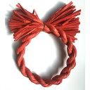しめ縄 リース 材料 カラー 赤 18cm 丸 手作り アレンジ 正月飾り しめ飾り 玄関飾り