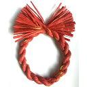 しめ縄 リース 材料 カラー 赤金 18cm 丸 手作り アレンジ 正月飾り しめ飾り 玄関飾り