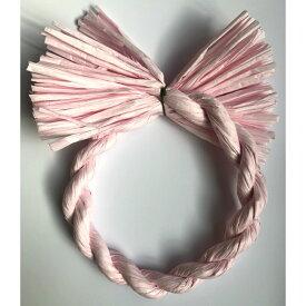 しめ縄 リース 材料 カラー ピンク 18cm 丸 手作り アレンジ 正月飾り しめ飾り 玄関飾り