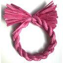 しめ縄 材料 リース カラー パッションピンク 18cm 丸 手作り アレンジ 正月飾り しめ飾り 玄関飾り