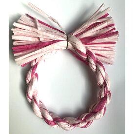 しめ縄 リース 材料 カラー ピンクMIX 18cm 丸 手作り アレンジ 正月飾り しめ飾り 玄関飾り