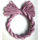 しめ縄 材料 リース カラー 紫 18cm 丸 手作り アレンジ 正月飾り しめ飾り 玄関飾り