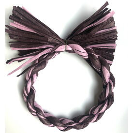 しめ縄 リース 材料 カラー 紫MIX 18cm 丸 手作り アレンジ 正月飾り しめ飾り 玄関飾り