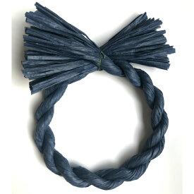 しめ縄 リース 材料 カラー 紺 18cm 丸 手作り アレンジ 正月飾り しめ飾り 玄関飾り