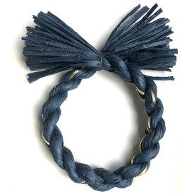 しめ縄 材料 リース カラー 紺金 18cm 丸 手作り アレンジ 正月飾り しめ飾り 玄関飾り