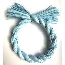 しめ縄 リース 材料 カラー 水色 18cm 丸 手作り アレンジ 正月飾り しめ飾り 玄関飾り