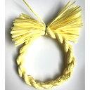 しめ縄 リース 材料 カラー 黄色 18cm 丸 手作り アレンジ 正月飾り しめ飾り 玄関飾り
