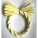 【11/12限定 ポイント10倍】 しめ縄 リース 材料 カラー 黄色MIX 18cm 丸 手作り アレンジ 正月飾り しめ飾り 玄関飾り