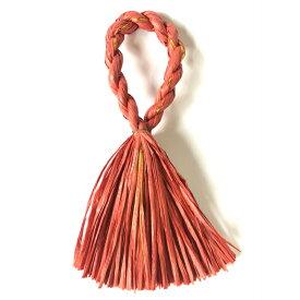 しめ縄 リース 材料 カラー 赤金 37cm L型 手作り アレンジ 正月飾り しめ飾り 玄関飾り