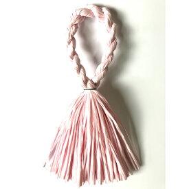 しめ縄 リース 材料 カラー ピンク 37cm L型 手作り アレンジ 正月飾り しめ飾り 玄関飾り