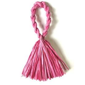 しめ縄 リース 材料 カラー パッションピンク 37cm L型 手作り アレンジ 正月飾り しめ飾り 玄関飾り