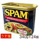 【沖縄ホーメル】スパムSPAM うす塩(ランチョンミート)340g×24個<1ケース>