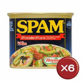 【送料無料】うす塩スパム(SPAM)・ポークランチョンミート 6缶セット|沖縄土産|保存食[食べ物>缶詰>ポークランチョンミート]