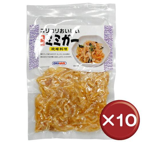オキハム コリコリおいしい味付ミミガー 80g 10袋セットコラーゲン|美肌|美容[食べ物>お肉>ミミガー]
