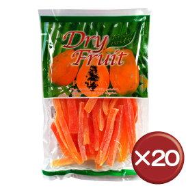 【送料無料】ドライフルーツパパイヤ(大) 5枚入 20袋セット|お菓子|取り寄せ|健康食品[食べ物>お菓子>ドライフルーツ]