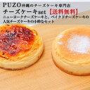 【送料無料】 チーズケーキ 人気No.1セット 【ベイクドチーズケーキ&ニューヨークチーズケーキ】|沖縄土産|ギフト…