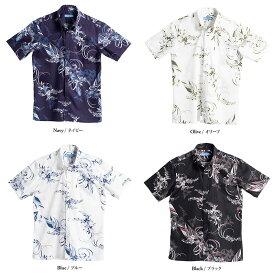 MAJUN/マジュン (2019年モデル) かりゆしシャツ ポーセリリーバイアス(メンズ)沖縄 アザリスガーデン(メンズ) かりゆし