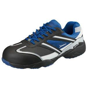 シモンSimon KA211 安全靴 黒/赤・黒/ブルー・ホワイト/ブルー 短靴 JSAA規格 A種 認定品 軽くて抜群のクッション性とフィット感を実現 女性サイズ有 軽量なワイド樹脂先芯採用 夜間も安心反射