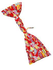沖縄 三線 紅型柄 布袋 赤 ケース 袋 三線袋 紅型
