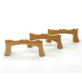 【送料無料】三線 竹製 ウマ 3個セット 太めデザインの安定感