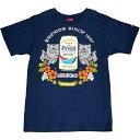 オリオンビール Tシャツ 「トライバルシーサーとドラフト缶」紺 綿100% S M L LL XL XXL サイズ グッズ 半袖 半そで