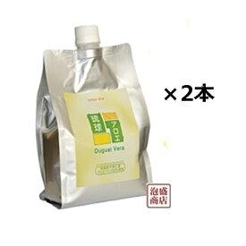 琉球アロエ アロエベラジュース エコパック×2個セット、 / エコパウチタイプ 1個あたり1000mlです。沖縄県産アロエ100%