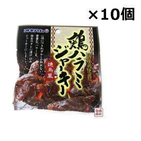 鶏ハラミジャーキー 20g×10個セット オキハム / 国産鶏肉使用 送料無料 ミミガージャーキー の次はコレ