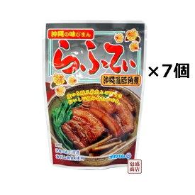 らふてぃ ごぼう入り 165g×7個セット。 沖縄風豚角煮 ゴボウ入り オキハム /