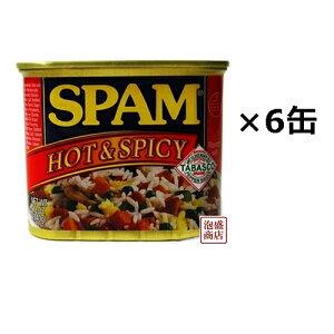 スパム ホット&スパイシー 340g×6缶セット / 沖縄 ポークランチョンミート ホーメル