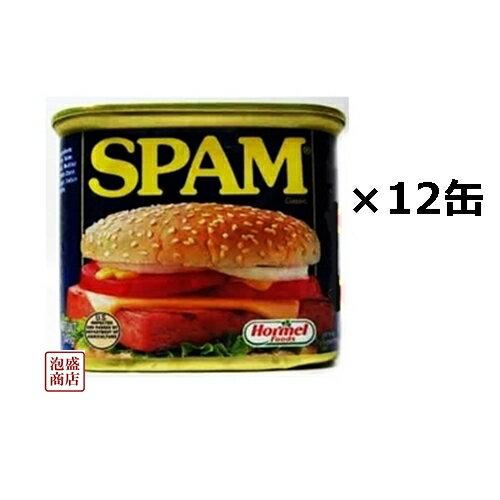 スパム レギュラー 340g×12缶セット ポークランチョンミート缶詰 沖縄