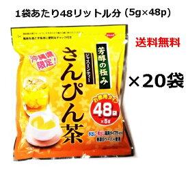 さんぴん茶 ティーパック 芳醇の極み (5g×48p)×20袋セット(1ケース)  沖縄限定 お徳用 ティーバッグ