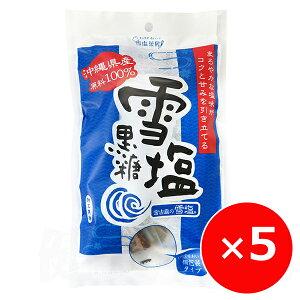 雪塩黒糖 パラダイスプラン 120g×5個 黒糖 黒砂糖 お菓子 個包装 一口サイズ 沖縄 お土産 雪塩と黒糖のお菓子