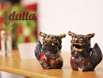 Shisa face's life. Not sold in the souvenir shop. Only specialty store handling. ACA--acrobatics--Shisa (small) figurines, pottery, housewarming, made of the auspicious Feng Shui entrance Japan
