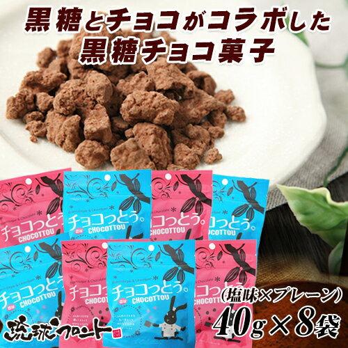 【送料無料】【沖縄土産】 DM便 「チョコっとう。」 お試しアソート (40gx8袋) 琉球黒糖 ちょこっとう メール便発送