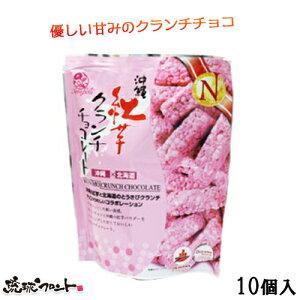 沖縄土産 紅芋クランチチョコレート 10個入りナンポー  【vdy_d70】