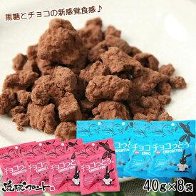 チョコっとう。 お試しアソート (プレーン&塩味) 40g×8袋 沖縄土産 送料無料 メール便 琉球黒糖 沖縄 黒糖 お菓子 チョコレート ちょこっとう