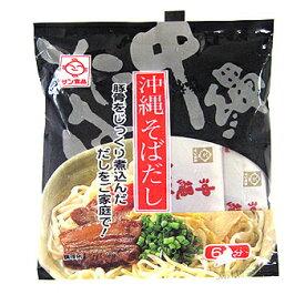 沖縄そばだし(黒)豚骨 濃縮6食分 │サン食品 そばダシ│