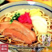 【送料無料】ソーキそば豚骨ダシ・ジューシーの素×各3食沖縄そばソーキそばジューシーじゅーしー分納1002970001600