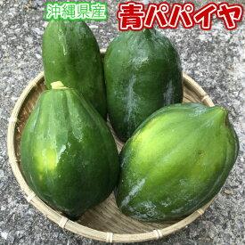 青パパイヤ約1kg 【発送年中ですがお待たせする場合有】 青パパイヤは栄養価が高く健康維持に大切な酵素を豊富に含んでいます。 【パパイア 野菜 国産 国内産 沖縄県産 お取り寄せ セット 料理 惣菜 おかず サラダ 材料 パパイヤ酵素】【たま青果】