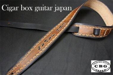CigarBoxGuitarJapanオリジナルギターストラップ茶