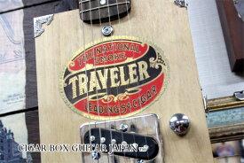 シガーボックス ヴィンテージラベル/TRAVELER 楕円型 Cigar Box Guitar【送料無料】