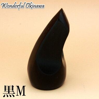 三線用バチ(ツメ)牛の角製黒M