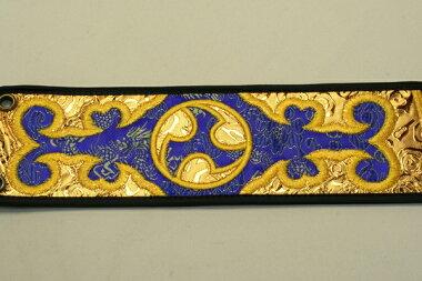 三線用胴巻き(ティーガー)左御紋金襴青