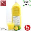 ノビレチン 豊富な 沖縄県産100% シークヮーサー 果汁2L6本セット 業務用サイズ 送料無料「只今注文が殺到しており、…
