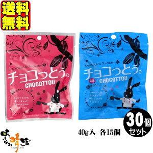 チョコっとう 15個 チョコっとう 塩味 15個 (琉球黒糖 沖縄 土産 黒糖 チョコレート) 送料無料