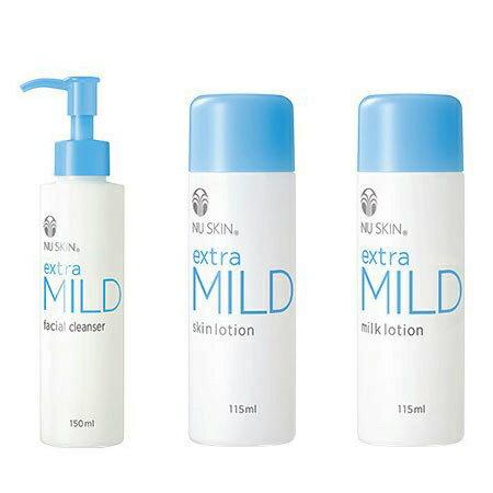 【ポイント4倍】NU SKIN ニュースキン エクストラマイルド 洗顔、化粧水、乳液、3点セット