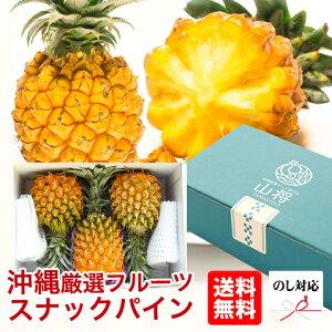 スナックパイン パイナップル 沖縄 石垣島産 お取り寄せ ギフト 高級 3玉セット 【安心保証付き】